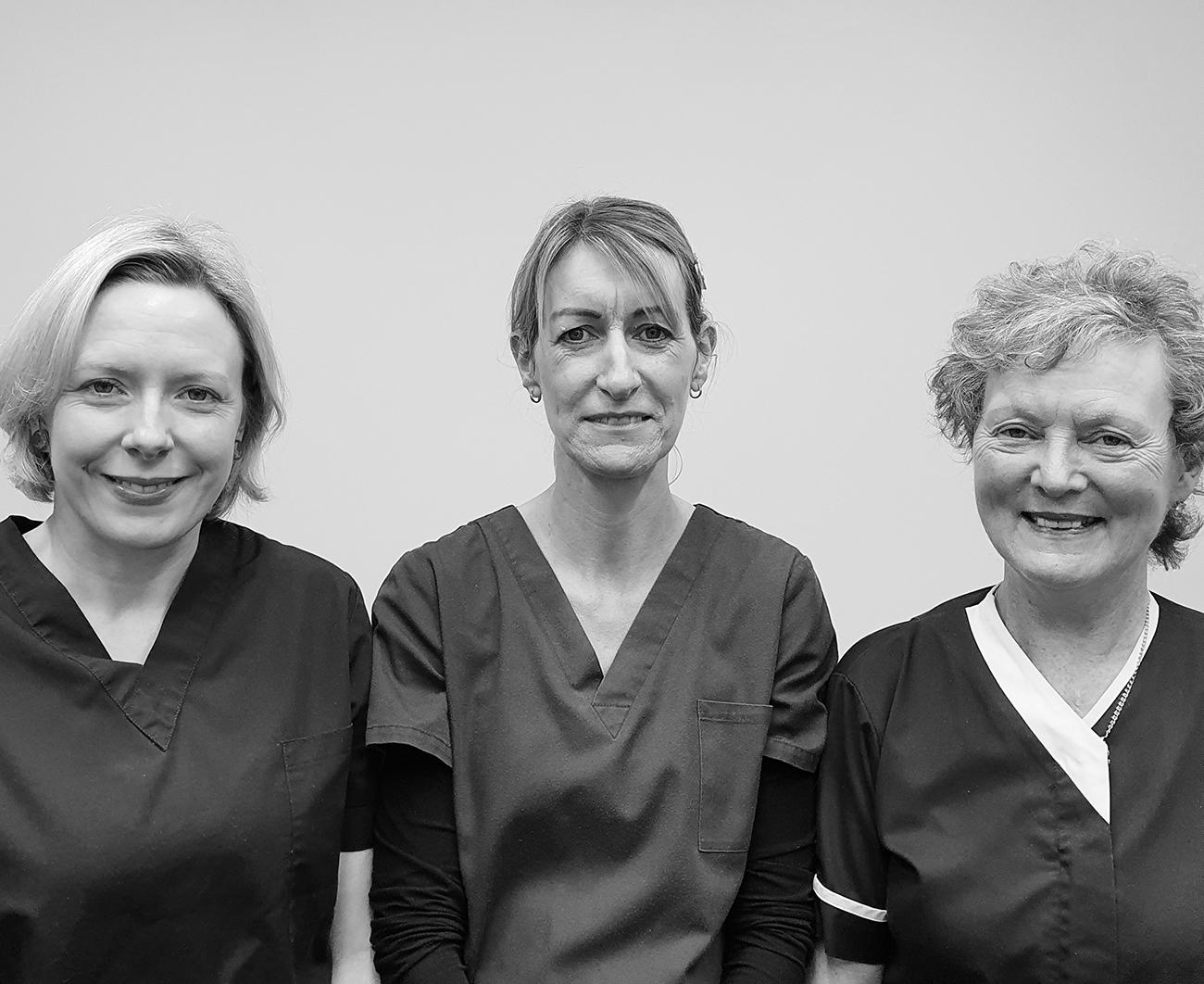 Nurses Elizabeth Beary, Karen Carroll & Nuala O' Connell - Mary Street Medical Centre